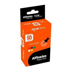 Alfinete Mapa 6mm Tipo Taça caixa com 50 Unidades Jocar Office