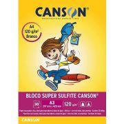 Bloco para Desenho A3 Branco 120g c/30 Fls Liso Canson
