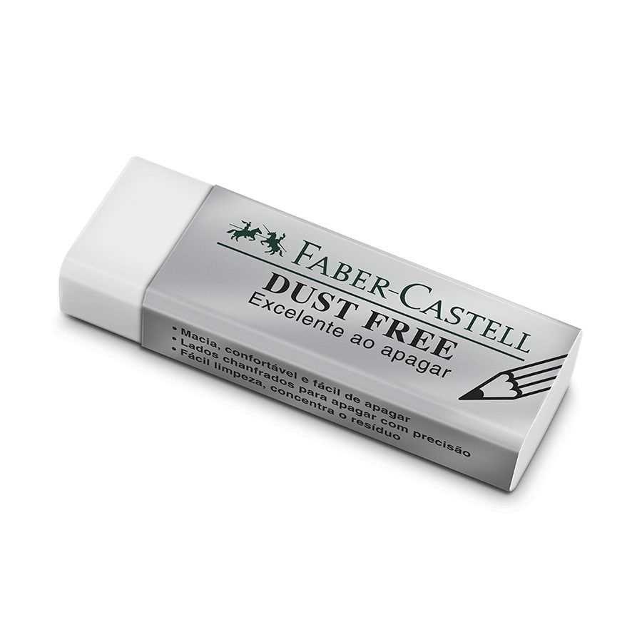 borracha dust free grande  fabercastell na papelaria art