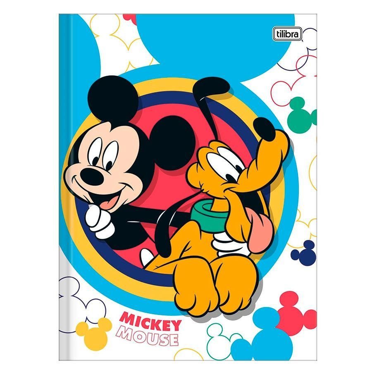 Caderno Brochura Univ Capa Dura 80 Fls Mickey 03 Tilibra Na