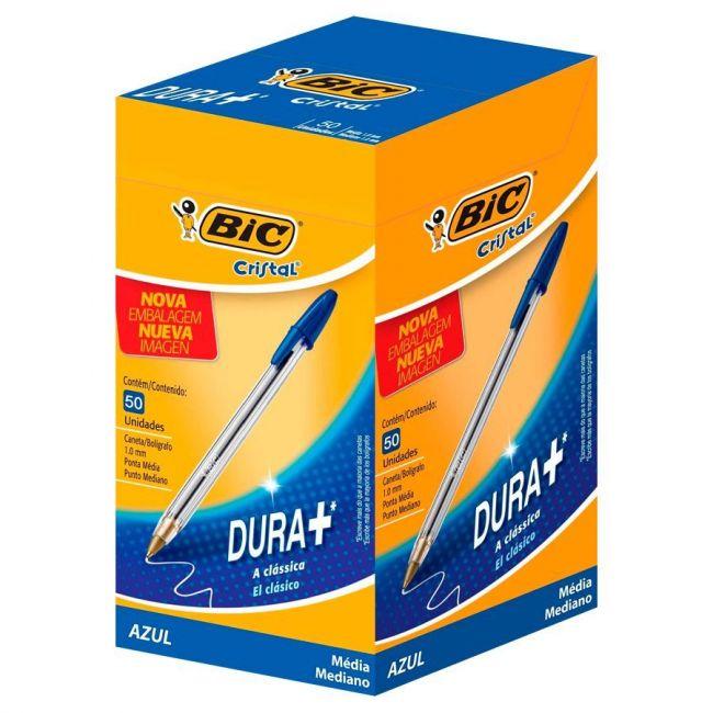 Caneta Esferográfica BIC Cristal  Azul cx c/50 Unid