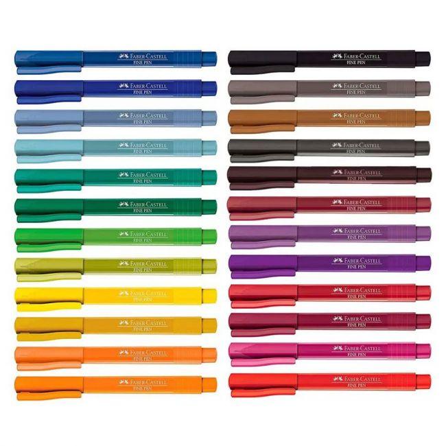 Caneta Hidrográfica Faber Castell Fine Pen 0.4mm FPB
