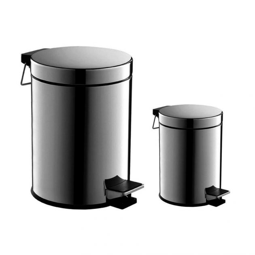 Cesto para Lixo com Pedal 5L Inox - Tomix