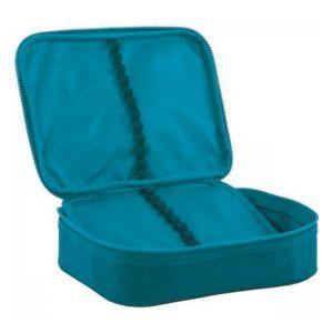 Estojo Box Académie Azul Turquesa Tilibra