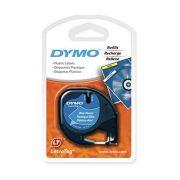 Fita para Rotulador Eletrônico 12mm x 4m Poliéster LetraTag Preto / Azul 91335 - Dymo