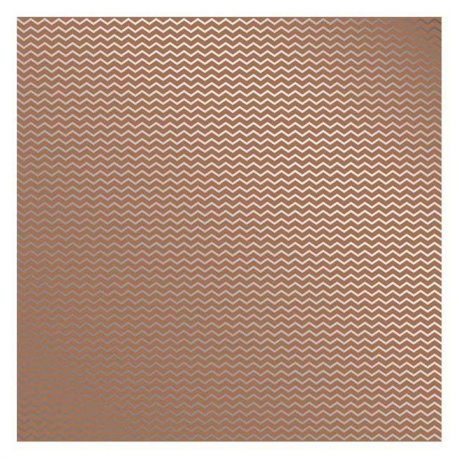 Folha para Scrapbook Metalizada Chevron Prateado FD Kraft 30,5 x 30,5cm - Toke e Crie 19897