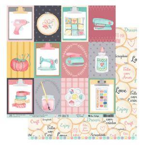 Folha para Scrapbook My Crafts - My Memories Crafts MMCMC05