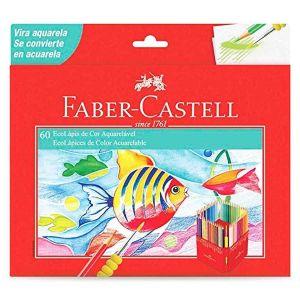 Lápis de Cor Aquarelável 60 Cores Sextavado Faber Castell