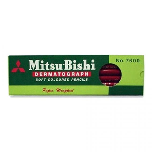 Lápis Dermatográfico 7600 Vermelho Mitsubishi 6.4000 - Unidade