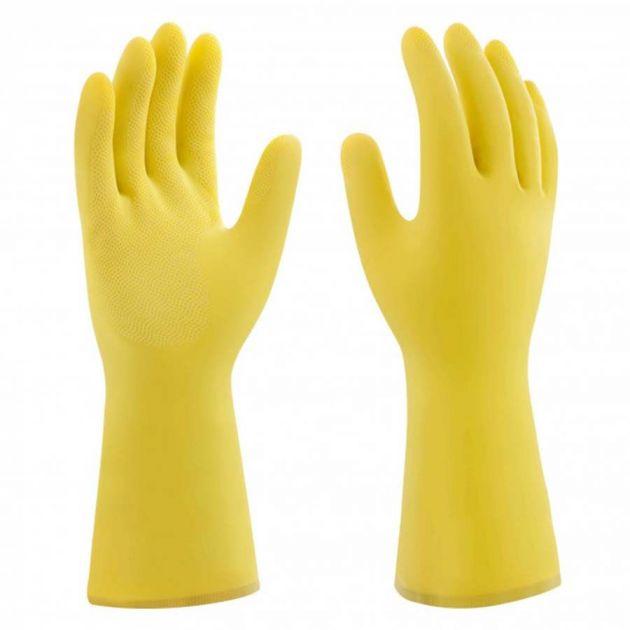 Luva de Borracha Multiuso Amarela Mucambo Profissional Pequena