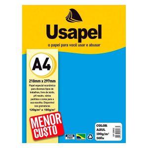 Papel Color Plus A4 180g com 50 Folhas Usapel