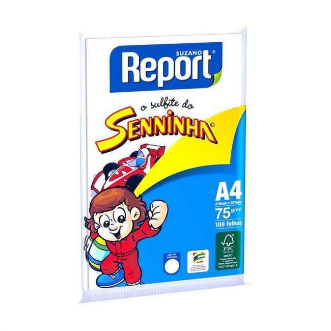 Sulfite 75g A4 210 x 297mm pt c/100 Fls Senninha Report