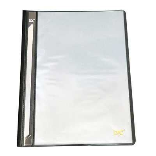 Pasta Catálogo A4 Preta e Transparente com 10 plásticos - DAC