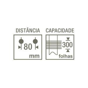 Perfurador Profissional HDP-2320 2 furos 300 folhas Kangaro - CIS