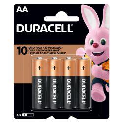 Pilha AA (pequena) Alcalina 1,5v com 4 unidades MN1500 - Duracell